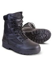 Half Leather Army Combat Patrol Boots Military Tactical Black Cadet Police