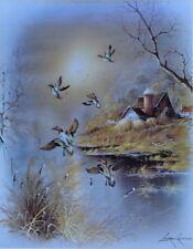 ANDRES ORPINAS Stream Old farm Ducks 11 x 14