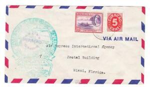 Netherlands Antilles Sc#C22,#131-FIRST FLIGHT-Mu#40-ORANJESTAD 16/8/43-TO