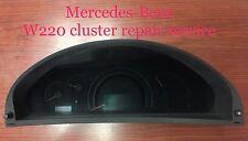 Mercedes S-class CL-class Speedometer Instrument cluster REPAIR SERVICE ONLY