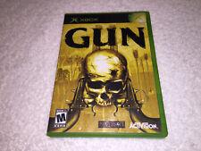 Gun (Microsoft Xbox, 2005) Activision Neversoft Original Complete Excellent!