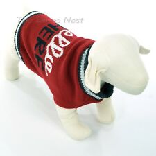 GRREAT CHOICE Unisex MEDIUM DOG SWEATER Coat RED with Gray & White HELLO THERE