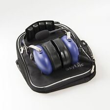 Aviation GA Headset ~ Blue (Dual Plug, MP3 Plug, Comfortable Gel) Made In Korea