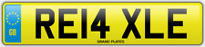 Relax Relaxed number plate RE14 XLE CAR REG FEES PAID RELAXING DRIVE CHILL COMFY