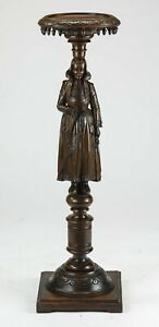 Stand /  Plant Holder, Carved Walnut, French Figural Brittany Stand, 1900's!