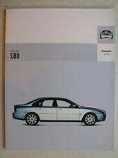 Prospekt Volvo S80, 2004, 72 Seiten