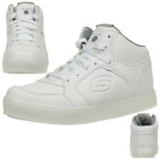 Skechers Sk90600 Energy Lights White Kids Light up High Top Trainers Size 28-39 29
