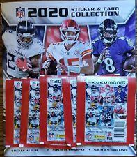 2020 Panini NFL Sticker Collection Football Album with Bonus 5 Sticker Packs!