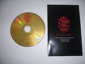 The Legend of Zelda 25th Anniversary Symphony Special Orchestra CD w/insert