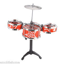 Jazz Rock Drums Set Kids Toy Musical Instrument Christmas Birthday Present/red