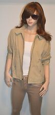 New $998 Ralph Lauren Suede Leather Barracuda Bomber Jacket Beige Medium M