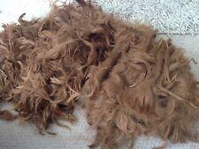 """Suri Alpaca Fleece for Crafts Reborn Dolls Hair 6-8"""" 50g+ Coffee/Chestnut/Brown"""