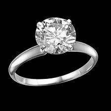 1.25 CT Natural Round Cut Diamond Engagement Ring Enhanced 18K White Gold D/SI1