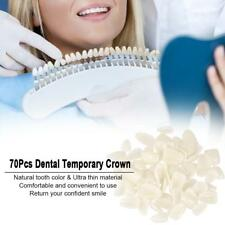 70Pcs Ultra-Thin Tooth Patch Resin Porcelain Materials Teeth Molar Veneers U2N5