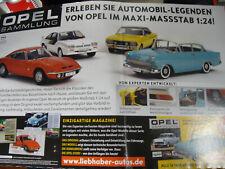 Opel Modell Sammlung Hachette * 1:24 versch. Modelle einzeln Nr. 1 - 11 / Ordner