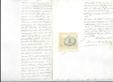España. Documento del periodo Colonial con sello Fiscal de 75 c de Peso