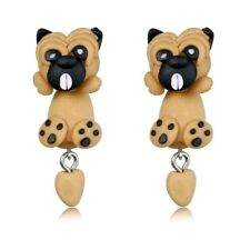 Pug Dog Stud Earrings Women Girls Cute Fashion Jewelry