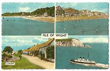 Isle of Wight, England vintage Sunray Postcard - 4 views including Ferry Ship