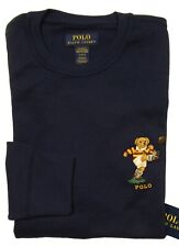 Polo Ralph Lauren Men Red Rugby Bear Long Sleeve Waffle Pajama Shirt Size L