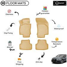 Custom Molded Rubber Floor Mat for Audi A3 2013-Up (Beige)