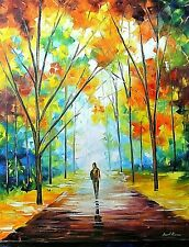 "Leonid Afremov-""Autumn Path""-Original Oil Painting/Canvas/Hand Signed/COA/30x40"