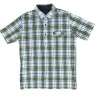 Kuhl Short Sleeve Button Down Hiking Shirt Mens Large Plaid NWOT