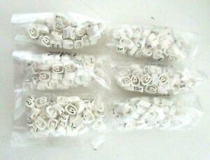 Cable Marker Packs (50pcs) CSA 2.5 - 16mm² Chevron Cut Black/White Letters