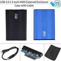 "2.5"" Inch USB 3.0 SATA Hard Drive HDD Disk External Enclosure Case for Laptop PC"