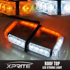 Xprite 24 LED Roof Top Emergency Hazard Warning Mini Strobe Light White Amber