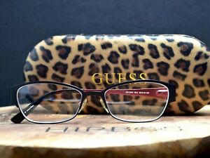 Guess Womens Glasses Frames Spectacles GU2329 Black Red Frame