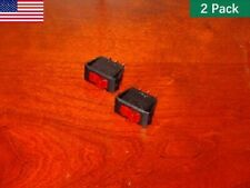 (2) Heater Toggle Switches for Twin Star Fireplaces 33EF010GRA 33EF003GRA