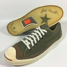 RARE Converse John Varvatos Vintage Jack Purcell Green Trainers Shoes Size UK 7