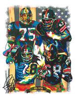 Steel Curtain Steelers Greene Greenwood Sports Print Poster Wall Art 8.5x11