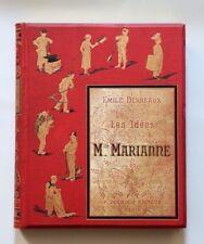 1884 Desbeaux Enfantina Cartonnage éditeur décoré Les Idées de Mlle Marianne