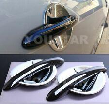 DELUXE COMBO Set GLOSS BLACK Door Handles & CHROME Cups MINI Cooper S F56 F57