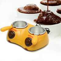 Two Oven Chocolate Melting Pot Electric Fondue Melter Machine Set Kitchen Tool