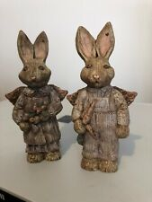 Sarah's Attic Limited Edition Boy And Girl Angel Rabbits Easter Gift!