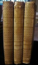 THE DIVINE COMEDY Dante Alighieri - 1867 [3 vols] Longfellow Translation Vellum