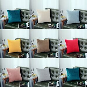 """Modern Soft Chenille Covers Design Large Scatter Cushion Pillow Cases 18"""" x 18"""""""