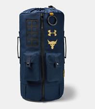 Under Armour Unisex Project Rock Dwayne Johnson 60 Duffel Gym Bag Backpack Blue