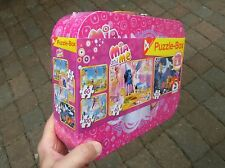 Mia and Me - The TV Series - Metal Lunch Box/Suitcase with 4 Puzzles NEW SEALED
