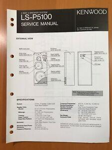 ORIGINAL SERVICE MANUAL & SCHEMATIC KENWOOD LS-P5100 SPEAKER SYSTEM D510