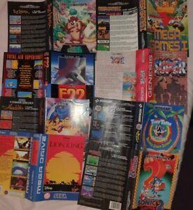 8 Original Covers Inserts For Sega Megadrive Lion King AladdinTaz Mania no games