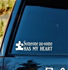 Autism Someone Au-Some Has My Heart Decal Sticker Puzzle Awareness *F1054