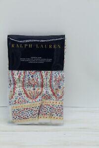 Ralph Lauren Home Veronique Sylvan Paisley EURO Pillow Sham Cotton Pink $215