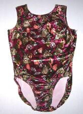 Nwt New Gk Elite Leotard Leo Velvet Tank Abstract Aztec Pattern Women Axl Xl