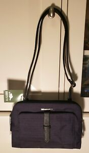 Roots73 Black 2 Compartment Adjustable Strap Handbag Purse Crossbody Bag
