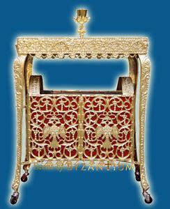 Ecclesiastical Aluminum Rectangular Candelabrum Drawable for Sand Made in Greec