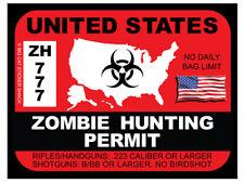 Zombie Hunting Permit - United States (Bumper Sticker)