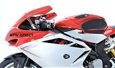 MV Agusta F4 2012-2017 R&G Pair black aero style crash protectors bungs CP0371BL